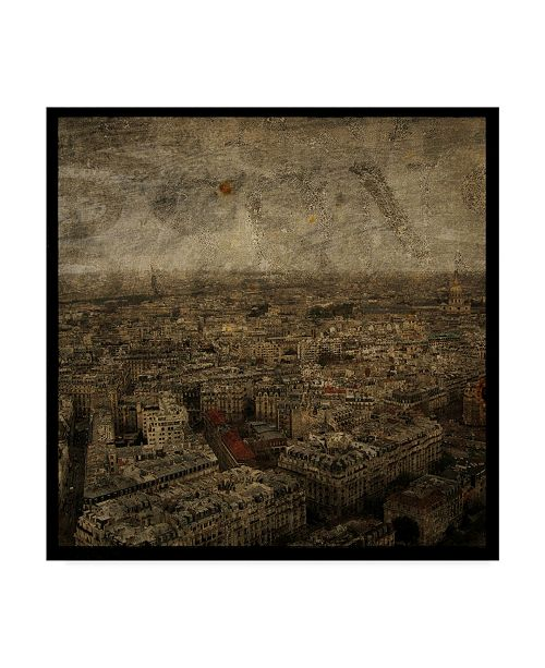 """Trademark Global John W. Golden 'Paris Skyline' Canvas Art - 35"""" x 35"""""""