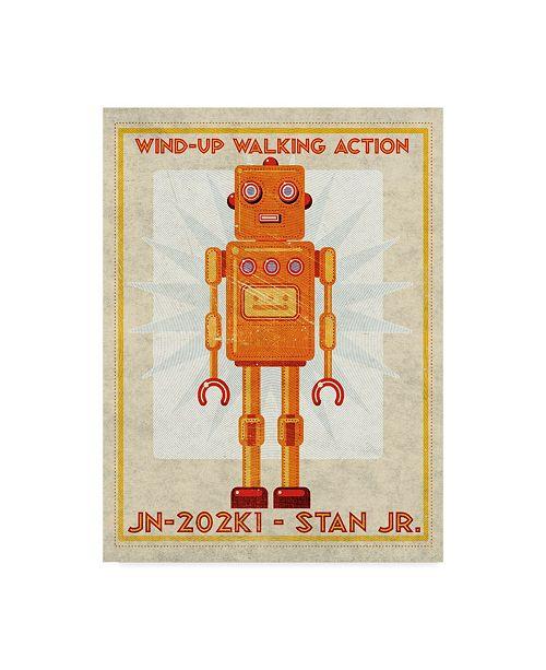 """Trademark Global John W. Golden 'Stan Jr Box Art Robot' Canvas Art - 24"""" x 32"""""""