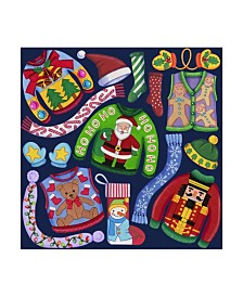 "Kimura Designs 'Christmas Ugly Sweaters' Canvas Art - 35"" x 35"""