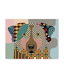 "Lanre Adefioye 'Australian Shepherd Dog' Canvas Art - 24"" x 32"""