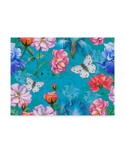 "Trademark Global Maria Rytova 'Roses And Butterflies (Pattern)' Canvas Art - 24"" x 32"""