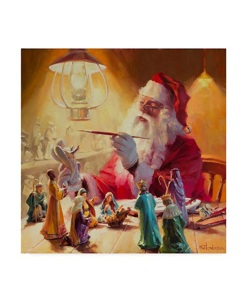 "Trademark Global Steve Henderson 'Santa More Than Toys' Canvas Art - 24"" x 24"""
