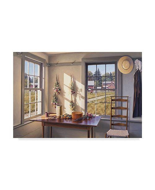 "Trademark Global William Breedon 'Roses For Autumn' Canvas Art - 30"" x 47"""