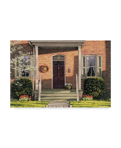 """Trademark Global William Breedon 'Welcome Home Spring' Canvas Art - 30"""" x 47"""""""