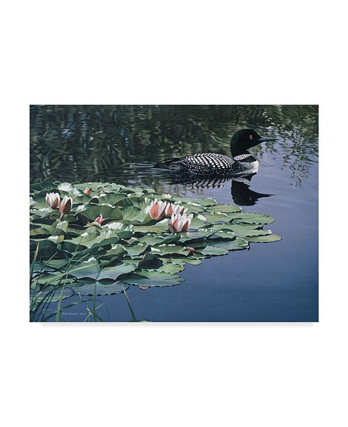 "Trademark Global Ron Parker 'Loon And Lilies' Canvas Art - 35"" x 47"""