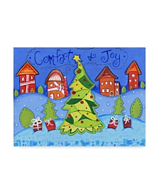 "Valarie Wade 'Christmas Village' Canvas Art - 35"" x 47"""