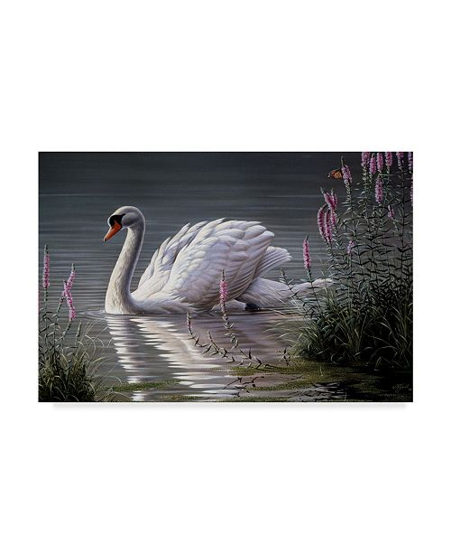 "Trademark Global Wilhelm Goebel 'Summer Idyll Mute Swan' Canvas Art - 30"" x 47"""