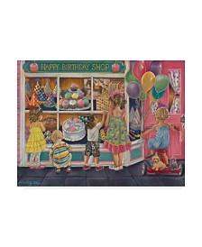 "Tricia Reilly-Matthews 'Happy Birthday' Canvas Art - 35"" x 47"""