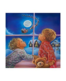"Tricia Reilly-Matthews 'Believe In The Magic Of Christmas' Canvas Art - 35"" x 35"""