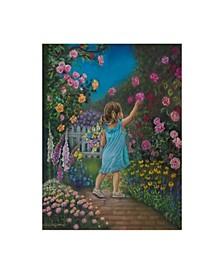 """Tricia Reilly-Matthews 'Grandmas Bouquet' Canvas Art - 35"""" x 47"""""""