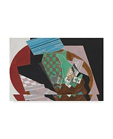 """Juan Gris 'Checkerboard and Playing Cards, 1915' Canvas Art - 30"""" x 47"""""""