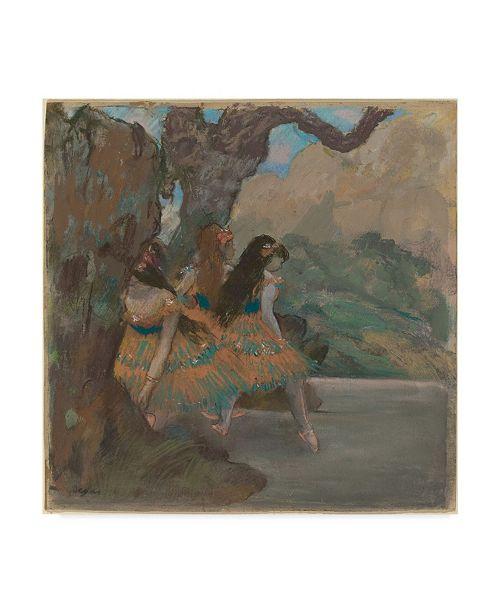 """Trademark Global Edgar Degas 'The Ballet Dancers' Canvas Art - 35"""" x 35"""""""