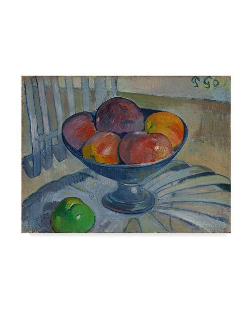 """Trademark Global Paul Gauguin 'Fruit Dish On A Garden Chair' Canvas Art - 24"""" x 18"""""""
