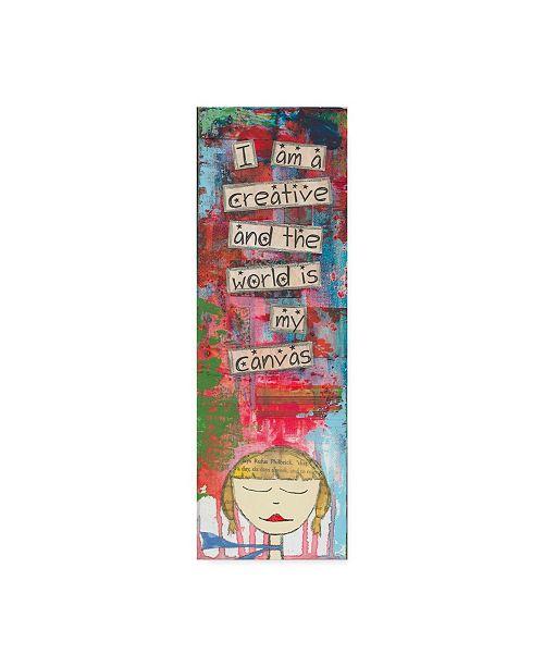 "Trademark Global Jennifer Mccully 'Worldcanvas' Canvas Art - 8"" x 24"""