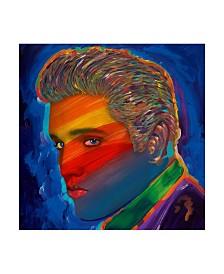 "Howie Green 'Elvis Rainbow' Canvas Art - 35"" x 35"""