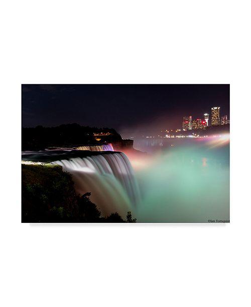 "Trademark Global Ian Tornquist 'Lights On The Falls' Canvas Art - 32"" x 22"""