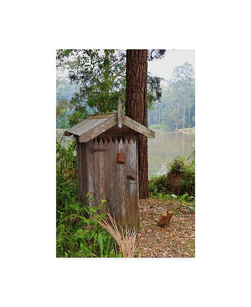 """Trademark Global Incredi 'Outhouse' Canvas Art - 30"""" x 47"""""""