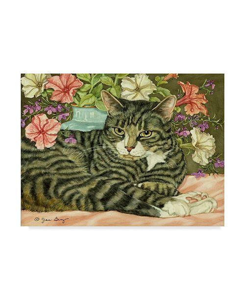 """Trademark Global Jan Benz 'Boo Gray Cat' Canvas Art - 47"""" x 35"""""""