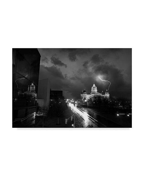 """Trademark Global Jason Matias 'Dsm Lightning' Canvas Art - 47"""" x 30"""""""
