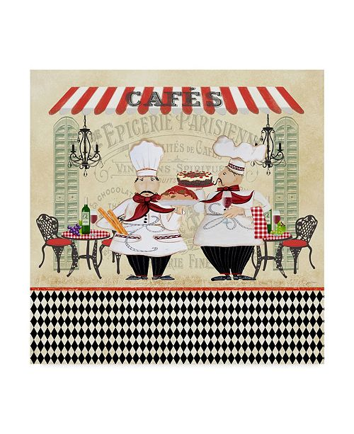 """Trademark Global Jean Plout 'French Cafe Chefs' Canvas Art - 35"""" x 35"""""""