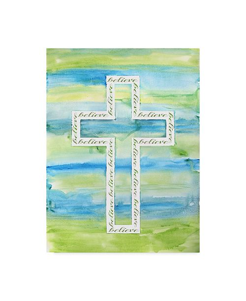 "Trademark Global Jean Plout 'Watercolor Cross 1' Canvas Art - 35"" x 47"""