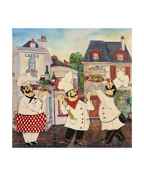 "Trademark Global Jean Plout 'Italian Chefs' Canvas Art - 35"" x 35"""