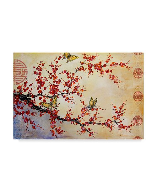 """Trademark Global Jean Plout 'Butterfly Blossoms Asian' Canvas Art - 32"""" x 22"""""""