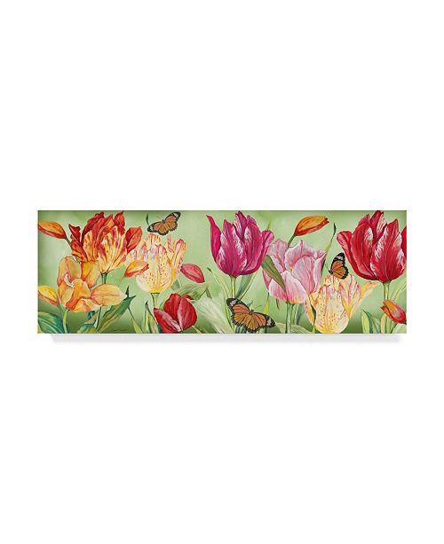 "Trademark Global Jean Plout 'Tulip Garden' Canvas Art - 32"" x 10"""