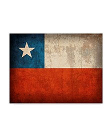 """Red Atlas Designs 'Chile Distressed Flag' Canvas Art - 32"""" x 24"""""""