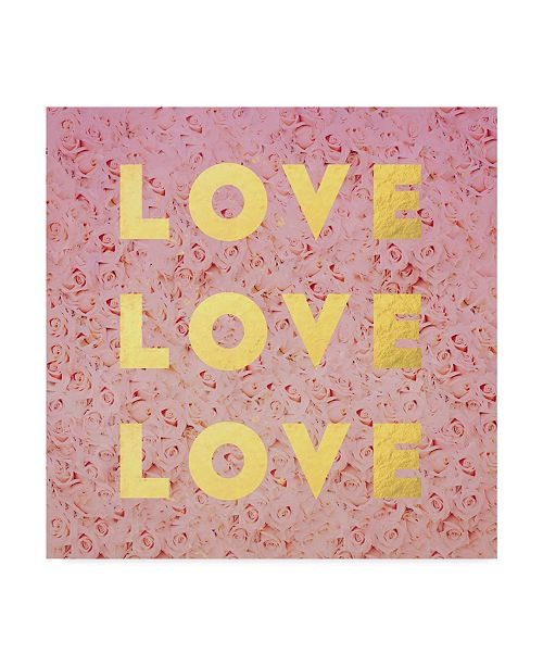 """Trademark Global Leah Flores 'Love And Roses' Canvas Art - 35"""" x 35"""""""
