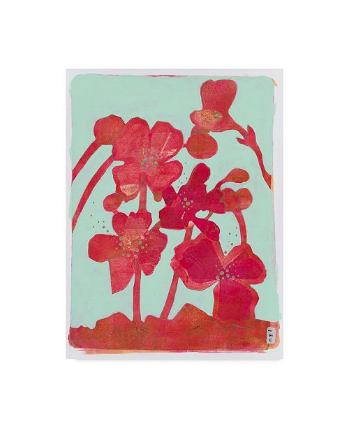 """Trademark Global Maria Pietri Lalor 'Pollination In Red' Canvas Art - 35"""" x 47"""""""