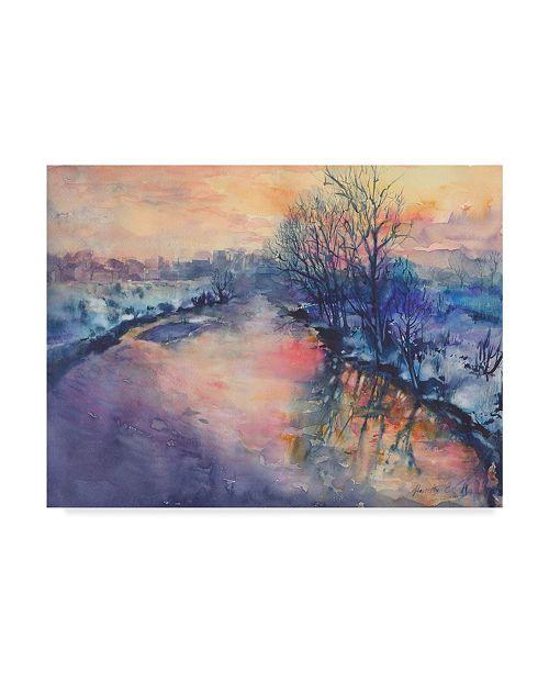 """Trademark Global Marietta Cohen Art And Design 'Winter River' Canvas Art - 32"""" x 24"""""""