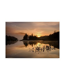 """Michael Blanchette Photography 'Gold On The Mountain' Canvas Art - 32"""" x 22"""""""