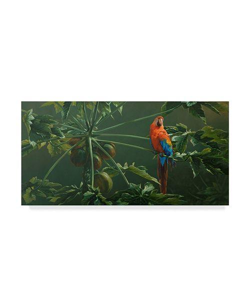 "Trademark Global Michael Jackson 'Scarlet' Canvas Art - 47"" x 24"""