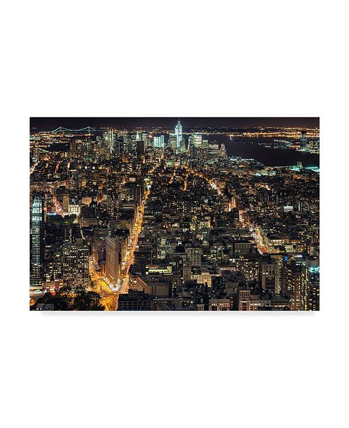 "Trademark Global Natalie Mikaels 'That New York Feeling' Canvas Art - 24"" x 16"""