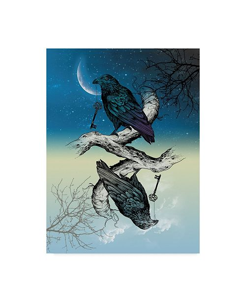 "Trademark Global Rachel Caldwell 'Raven Night And Day' Canvas Art - 24"" x 32"""