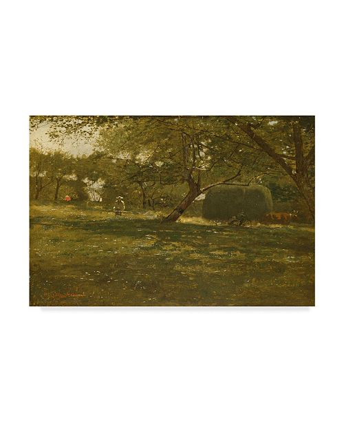 "Trademark Global Winslow Homer 'Harvest Scene, 1873' Canvas Art - 47"" x 30"""