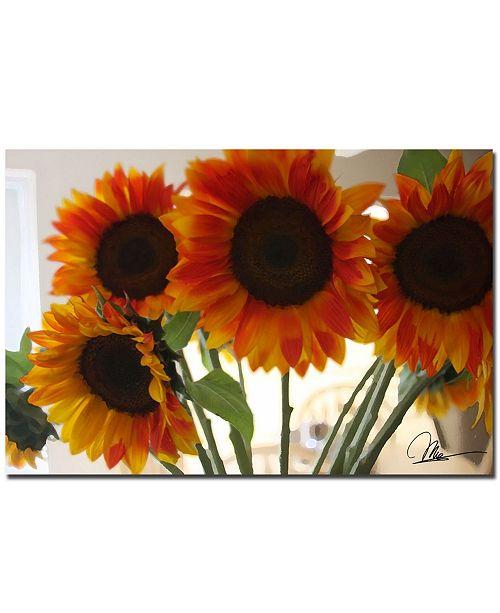 """Trademark Global Martha Guerra 'Sunflowers VIII' Canvas Art - 24"""" x 16"""""""