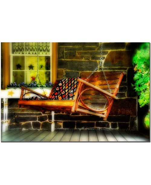 "Trademark Global Swing Me by Lois Bryan - Canvas Art - 24"" x 16"""