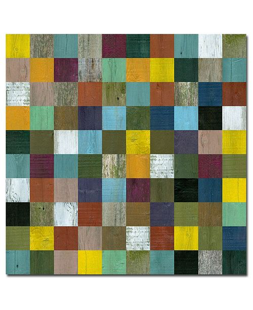 """Trademark Global Michelle Callkins, 'Rustic Wooden Abstract I' Canvas Art - 35"""" x 35"""""""