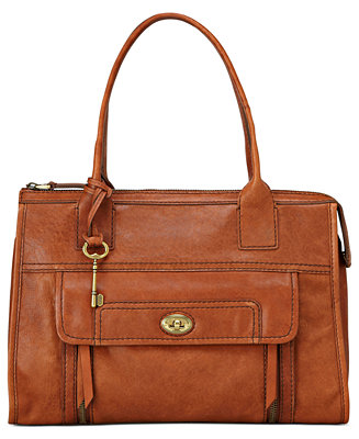 Fossil Stanton Leather Satchel Handbags Amp Accessories