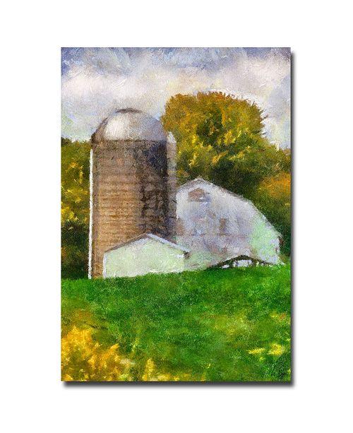 "Trademark Global Lois Bryan 'Barn and Silo' Canvas Art - 47"" x 30"""