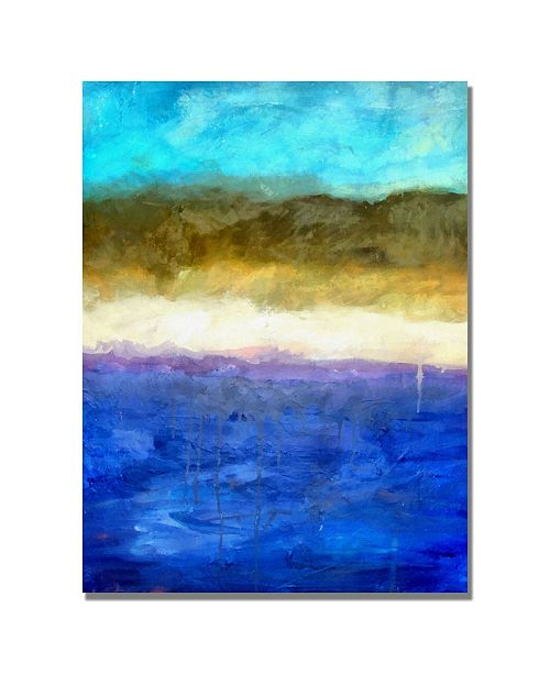 "Trademark Global Michelle Calkins 'Abstract Dunes' Canvas Art - 24"" x 18"""