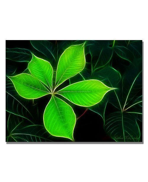 "Trademark Global Kathie McCurdy 'Big Green Leaf' Canvas Art - 47"" x 30"""