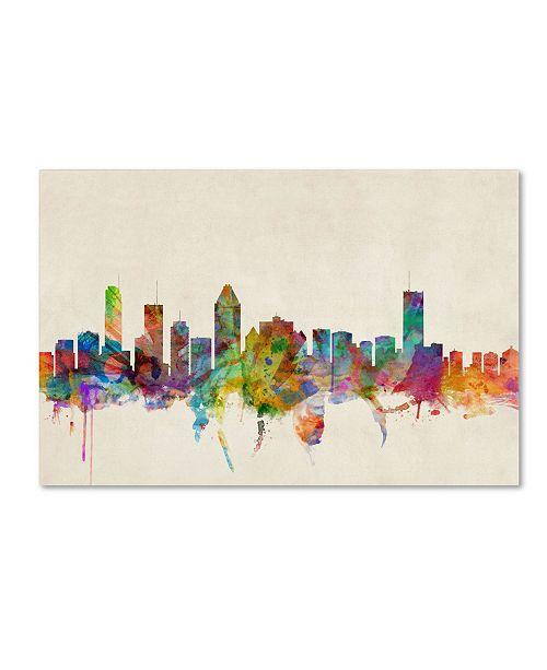 "Trademark Global Michael Tompsett 'Montreal Canada' Canvas Art - 32"" x 22"""