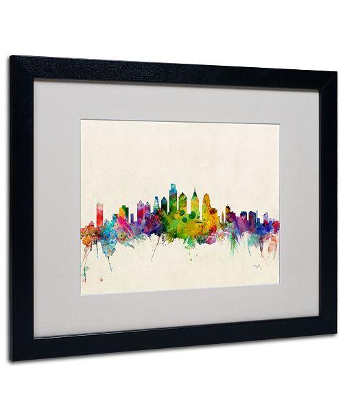 """Trademark Global Michael Tompsett 'Philadelphia, PA' Matted Framed Art - 20"""" x 16"""""""