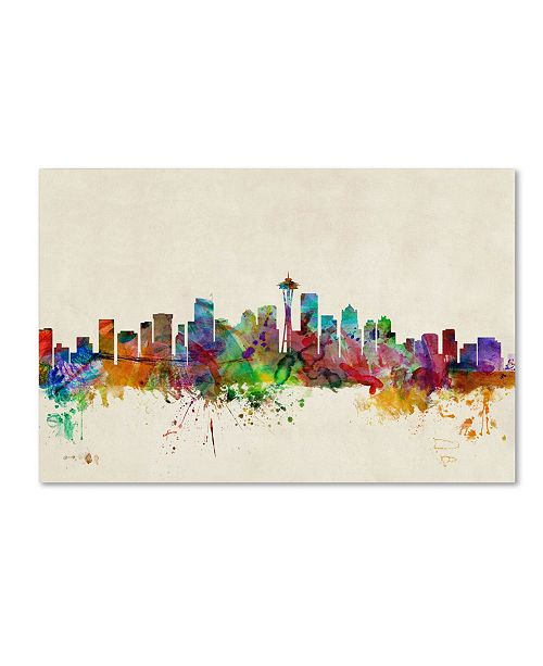 "Trademark Global Michael Tompsett 'Seattle, Washington' Canvas Art - 32"" x 22"""