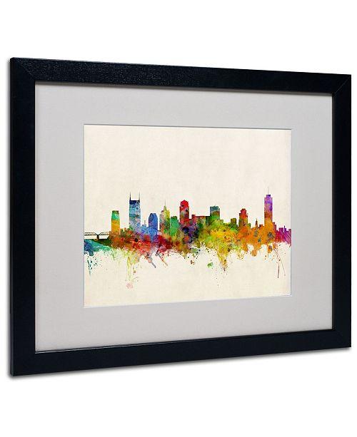 """Trademark Global Michael Tompsett 'Nashville Skyline' Matted Framed Art - 20"""" x 16"""""""