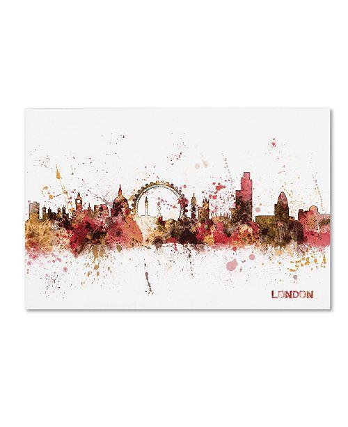 "Trademark Global Michael Tompsett 'London England Skyline' Canvas Art - 24"" x 16"""