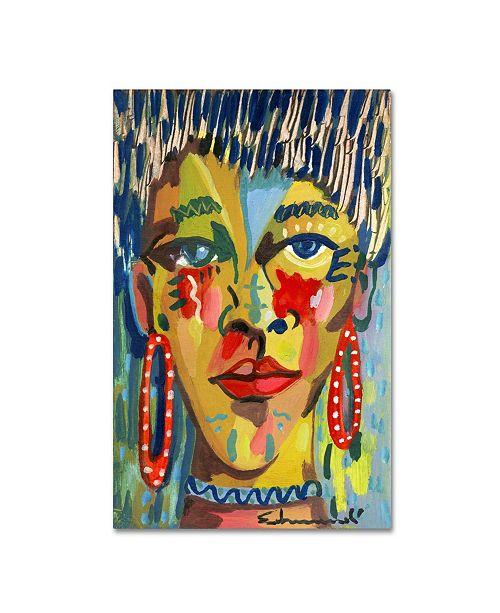 "Trademark Global Echemerdia 'Red Earing' Canvas Art - 32"" x 22"""